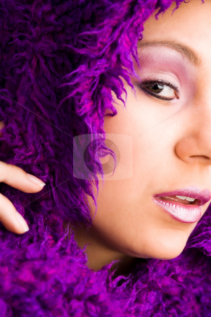 Purple and glamour stock photo, Young woman with a hypnotizing look by Frenk and Danielle Kaufmann
