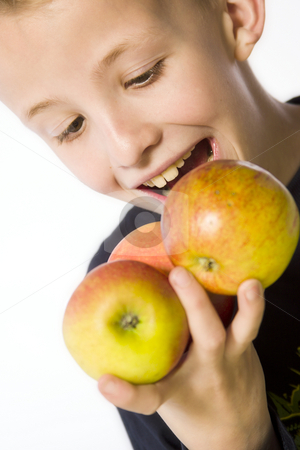 Apple Boy stock photo, A model portrait in the studio by Frenk and Danielle Kaufmann