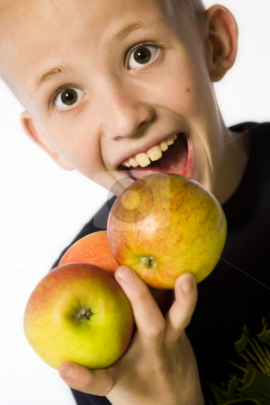 Apple Boy 2 stock photo, A model portrait in the studio by Frenk and Danielle Kaufmann