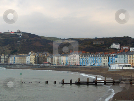 Aberystwyth Oceanfront stock photo, Edwardian and Victorian architecture dominates the ocean-front street in Aberystwyth, Wales. by Jessica Tooley