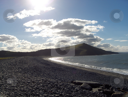 Rugged Beach stock photo, A rugged rocky beach near Aberystwyth, Wales. by Jessica Tooley