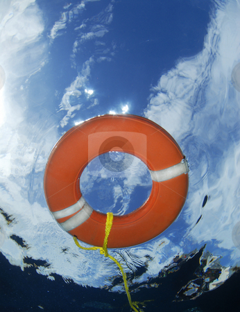 Underwater Lifesaver stock photo, Underwater Life Saver by A Cotton Photo