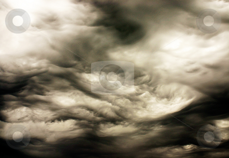 Abstract storm clouds stock photo, Abstract interpretation of storm clouds.  Would make a nice background. by Marc Saegesser