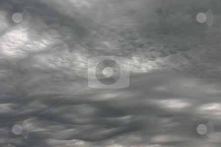 Storm clouds stock photo, A strong midwest storm brews providing richly textured and ominous cloud bases. by Marc Saegesser