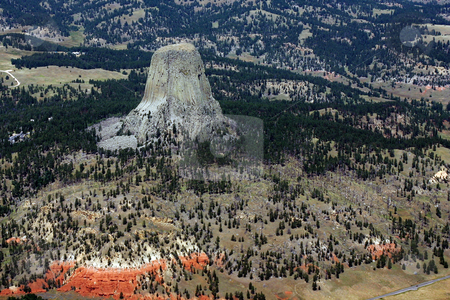 Devils Tower stock photo, Devils tower by Marc Saegesser