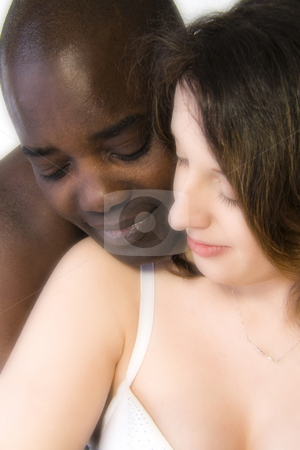 White woman with black man in love stock photo, White woman with black man in love by Frenk and Danielle Kaufmann