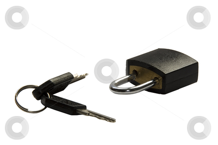 Padlock stock photo, A padlock used for safety in suitcases by Ivan Montero