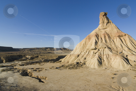 Bardenas mountain stock photo, Image of the desert of Bardenas Reales in Navarra, Spain by Ivan Montero