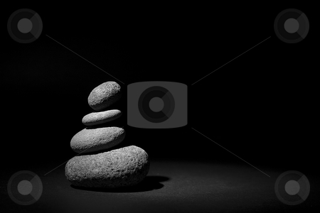 Stones stock photo, Composition of some stones conceptual image by Ivan Montero