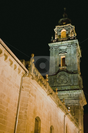 Tower stock photo, The tower of a christian cathedral by Ivan Montero