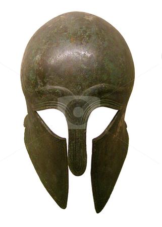 Greek stock photo, Image of an ancient greek bronze helmet by Ivan Montero