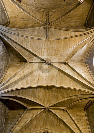 Church stock photo, Indoor image of the roof of a christian cathedral by Ivan Montero