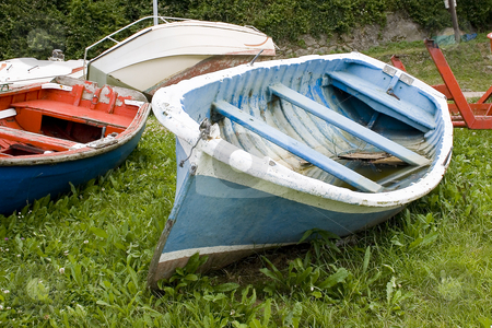 Boat stock photo, Image of old sea fishing boats by Ivan Montero