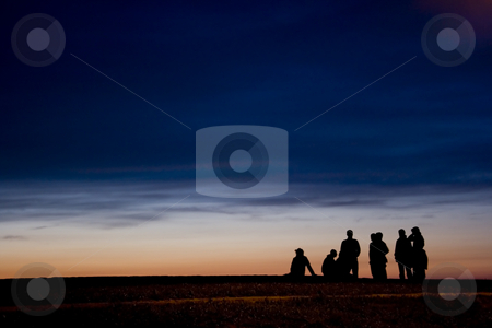 People stock photo, A group of teenagers at the end of the day by Ivan Montero