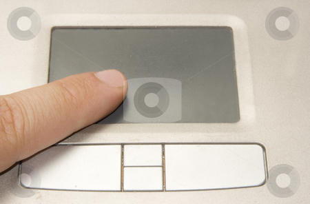 Laptop touchpad stock photo, Image of an opened laptop with the screen ready to edit by Ivan Montero