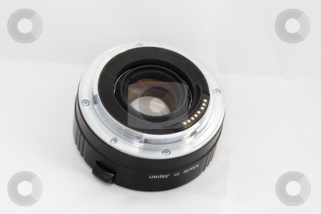 Lens stock photo, A converter that fit in a lens to multiply its focal lenght by Ivan Montero
