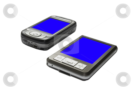 Two pda's stock photo, Image of a pda technology device by Ivan Montero