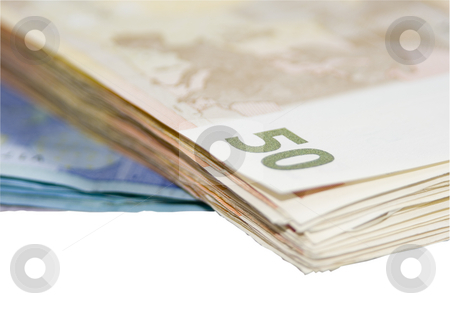 Money stock photo, Some euro currency notes paper money by Ivan Montero