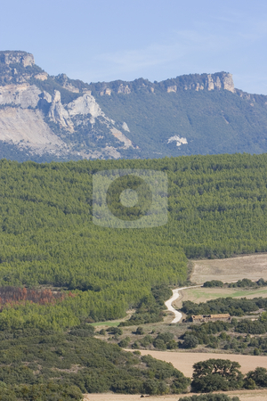 Nature stock photo, Nature image of mountains an green trees and forest by Ivan Montero
