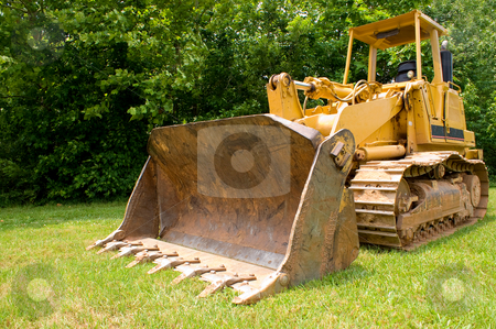Bulldozer stock photo, A large construction bulldozer ready for work. by Robert Byron