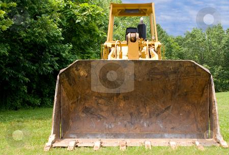 Bulldozer stock photo, A large construction bulldozer ready for work. by Robert Byron