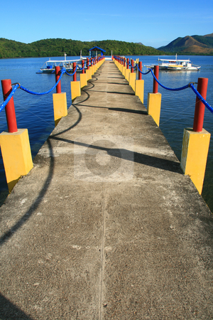 Pier 1 stock photo, Pier at a resort in Palawan Philippines by Jonas Marcos San Luis