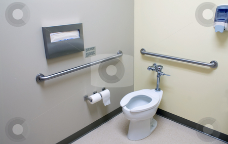 Handicap Bathroom stock photo, The inside of a large handicap acesable bathroom by Robert Byron