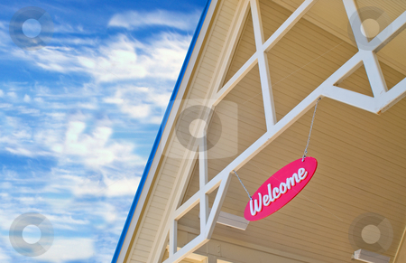 Welcome Sign stock photo, A welcome sign at a tourist destination. by Robert Byron