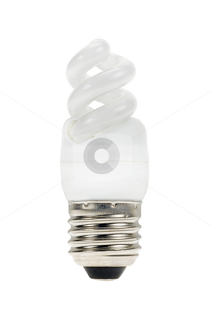 Lamp to save energy stock photo, Lamp to save some energy isolated on a white background by Claudia Van Dijk