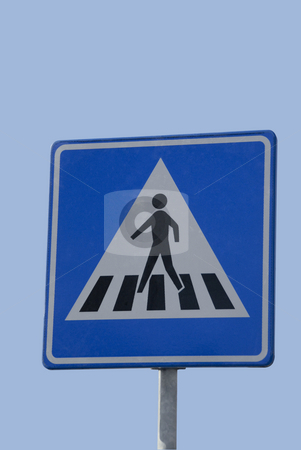 Road sign, Zebra stock photo, Dutch traffic sign, zebra for walker by Claudia Van Dijk