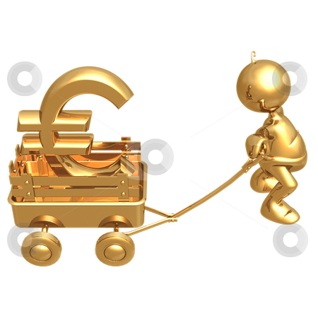 LuMaxArt Gold Guys Collection stock photo, A Concept And Presentation Figure In 3D by LuMaxArt