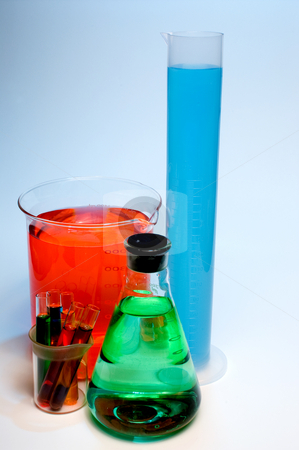 Laboratory Glassware stock photo, An assortment of tempered precision laboratory glassware. by Robert Byron