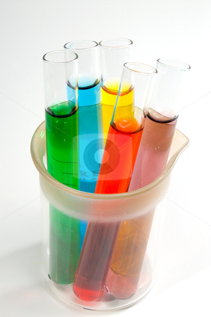 Test Tubes stock photo, A series of test tubes used for experimentation. by Robert Byron