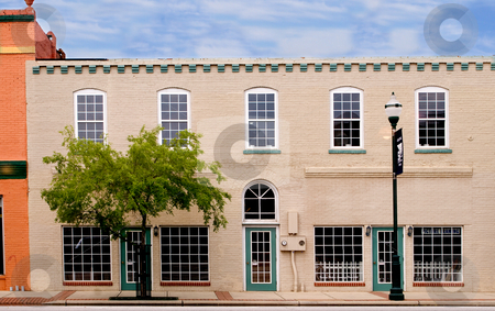 Historic Building stock photo, A very old downtown historic district building. by Robert Byron