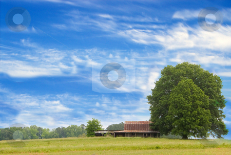 Barn stock photo, An old abandoned barn. by Robert Byron
