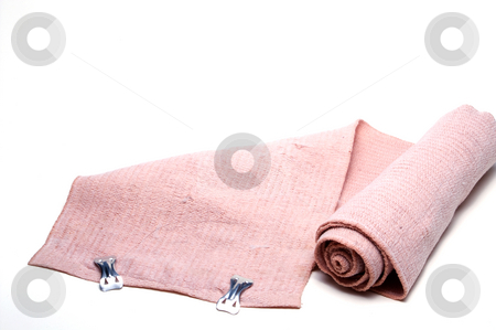 Elastic Bandage stock photo, A close-up image of an elastic bandage. by Robert Byron