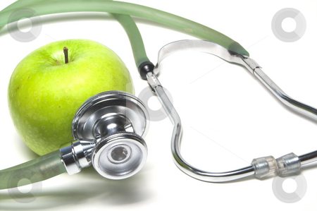 Apple a Day stock photo, An apple a day keeps the doctor away. by Robert Byron