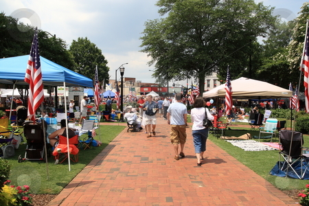 Fourth of july stock photo, Fourth of july celebration at Marietta Square Marietta Ga by Jack Schiffer