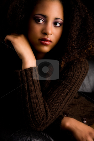 African atitude stock photo, African girl in the studio with a fashion attitude by Frenk and Danielle Kaufmann