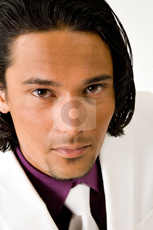 Business portrait stock photo, Young indonesian man in a business suit by Frenk and Danielle Kaufmann