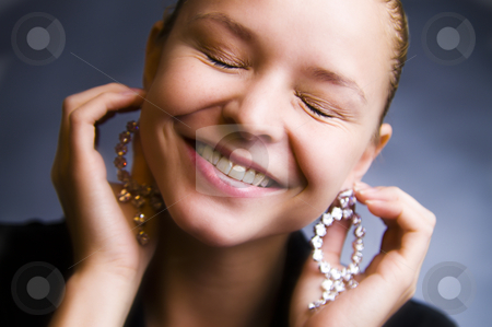 My Smile stock photo, A model smiling by Frenk and Danielle Kaufmann