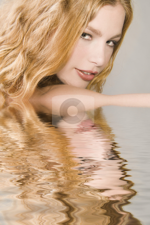 Landscape portrait of a beautiful blond stock photo, Landscape portrait of a beautiful blond model by Frenk and Danielle Kaufmann