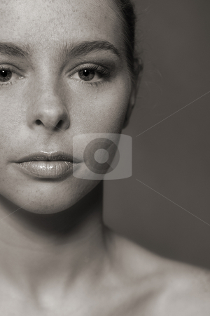 Woman's Face stock photo, Studio portrait of a beautyful blond model by Frenk and Danielle Kaufmann