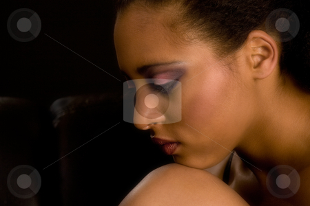 Glamour brown girl stock photo, Portrait of a african girl with make-up by Frenk and Danielle Kaufmann