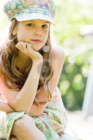 Pastel girl stock photo, Young sweet girl looking into the lens by Frenk and Danielle Kaufmann
