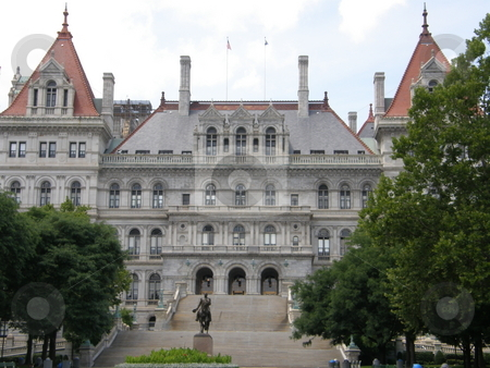 New York State Capitol in Albany stock photo, New York State Capitol in Albany, New York by Ritu Jethani