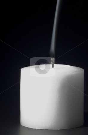 Candle Smoke stock photo, Smoke rising from a freshly snuffed candle. by Robert Byron