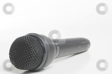 Microphone stock photo, A modern wireless microphone used in the entertainment industry. by Robert Byron