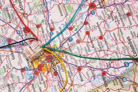 Information Super Highway stock photo, The concept of the information super highway. by Robert Byron