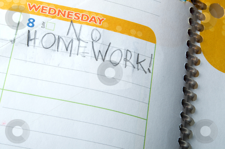 No Homework stock photo, No Homework - back to school concept by Robert Byron